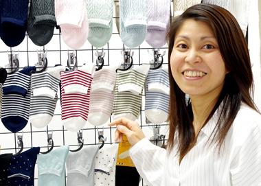 「靴下を買うならコポ!」と思ってもらえるお客様を、ひとりでも多く増やすことの写真