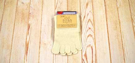 かさねるソックス 5本指 クルーソックス23-25cm