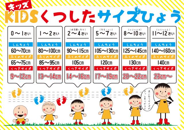 子供サイズ表