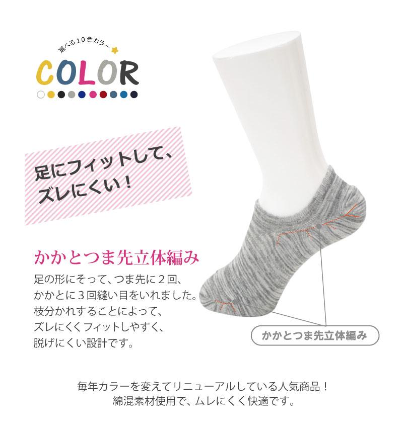 COPO Basic スニーカー足フィットサポート入プレーンシューズイン レディース 23-25