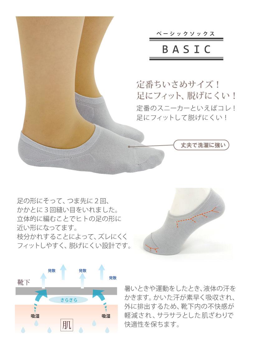 COPO Basic 定番商品 スニーカーソックス 小寸 レディース 23-25