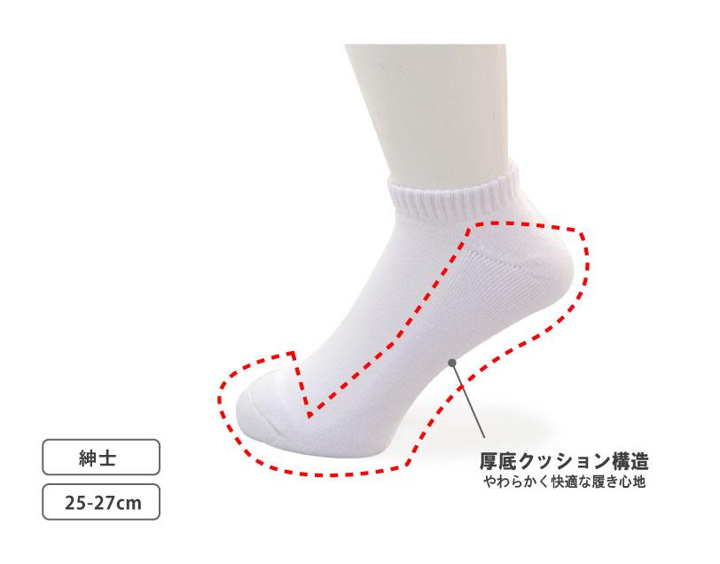 Ravi 底パイルスニーカーソックス 3足組 MENS 25-27 27-29